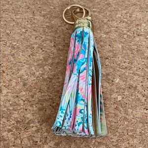 Lilly Pulitzer Leather Tassel Keychain